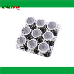 SET CONDIMENTE INOX MAGNET 9PCS RS/SP 8700-09