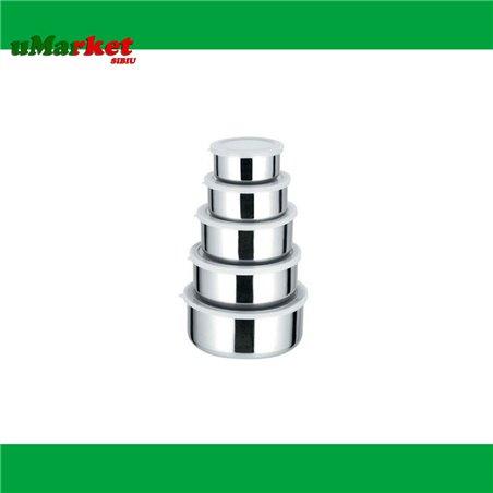 SET CASEROLE INOX 5PCS/SET