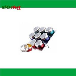 SET CONDIMENTE INOX MAGNET 9PCS RS/SP 8701-09