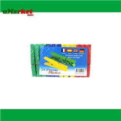 CARLIGE RUFE PLASTIC COLOR MICI 24PCS/SET